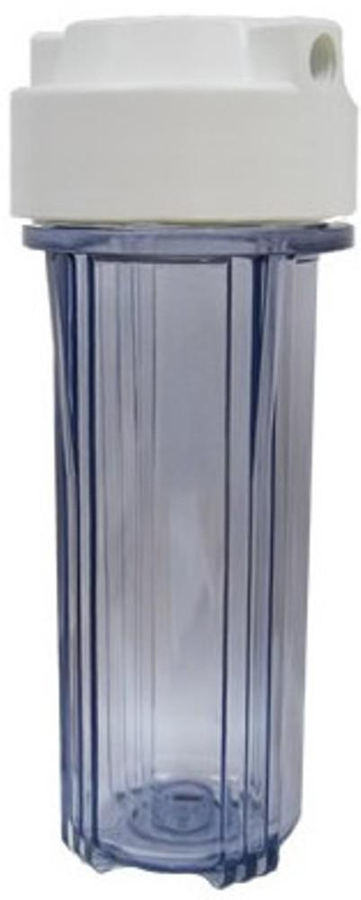 """Filter Housing for 10"""" Cartridge 1/2"""" BSP Clear/White"""