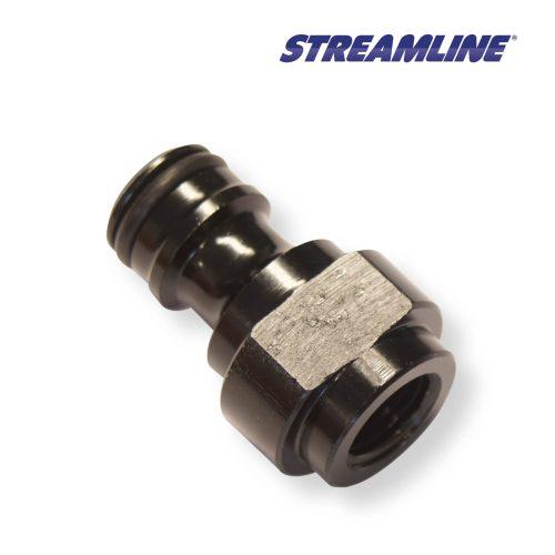 """Connector Hoselock Male to 1/4"""" BSP Female Aluminium"""