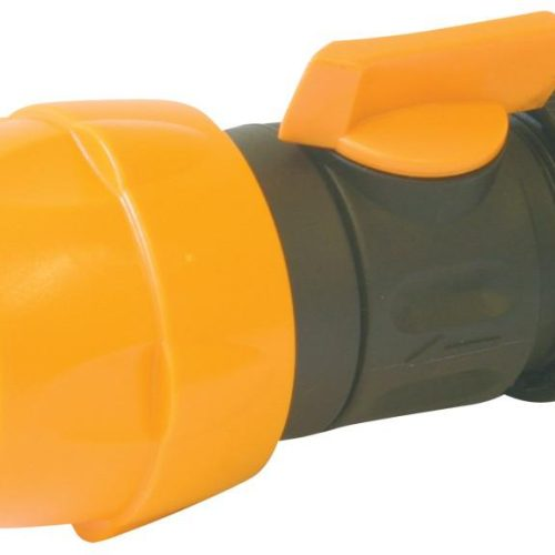 """Connector Hoselock Female to 1/2"""" Hose with Tap (Plastic)"""